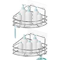 Nieifi Corner Shower Caddy Shelf with Hooks