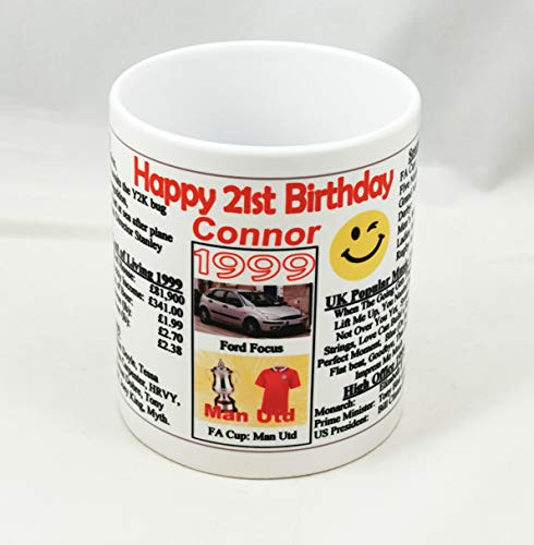 Personalised - 21ST Birthday Mug - 1999 -The Year You were Born Keepsake