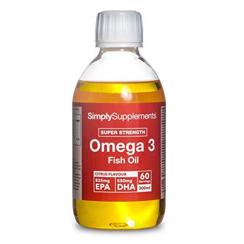 Omega 3 Liquido - Sabor cítrico natural - Bote 300ml para 60 raciones - SimplySupplements