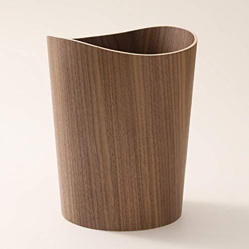 Desktop Prullenbak Massief houten prullenbak Huishoudelijke schoonmaakmiddelen Ronde prullenbak Zwenkdeksel…