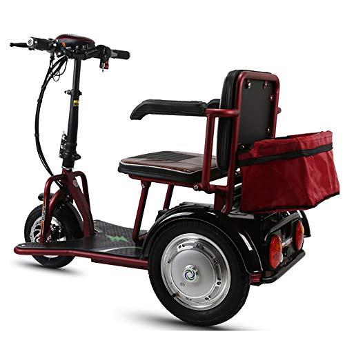 ZWPY Elektrisches Dreirad Für Erwachsene, Dreirad Elektroauto, 350-W-Motor, 12-Ah-Lithiumbatterie Maximale Laufleistung 40 Km