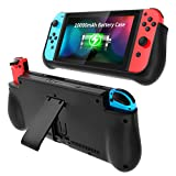 NEWDERY External Battery Case for Nintendo Switch, 10000mAh Backup Charger Case Support PD Quick Charging with...