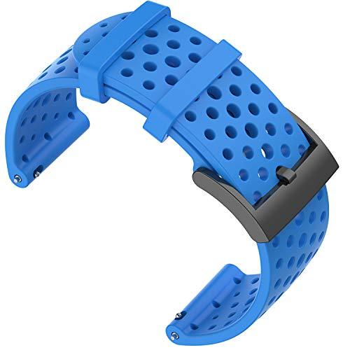 Shieranlee Compatible with Suunto 9 Spartan Suunto 7 Cinturino, 24MM Silicone Sport Cinturino Fitness per Suunto 9 Suunto D5 Suunto Spartan Sport Wrist HR Suunto 9 Titanium