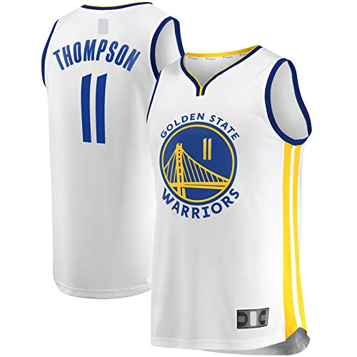 MAYAL Jersey de baloncesto Klay al aire libre Thompson Sports Golden Sweatshirt State White - Warriors #11 Fast Break Player Jersey Association Edition-M