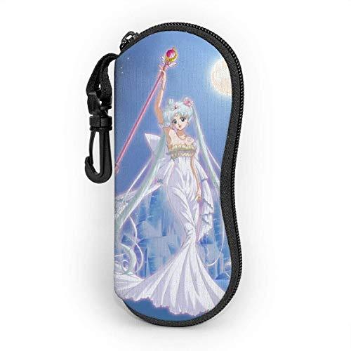 Neo Serenity - Estuche para gafas de pelo plateadas, con cremallera, portátil, para viajes, con bolsa de protección
