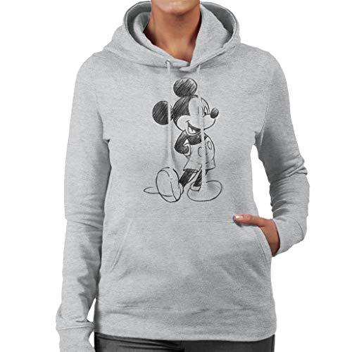 Disney Mickey Mouse Sketch Drawing Women's Hooded Sweatshirt