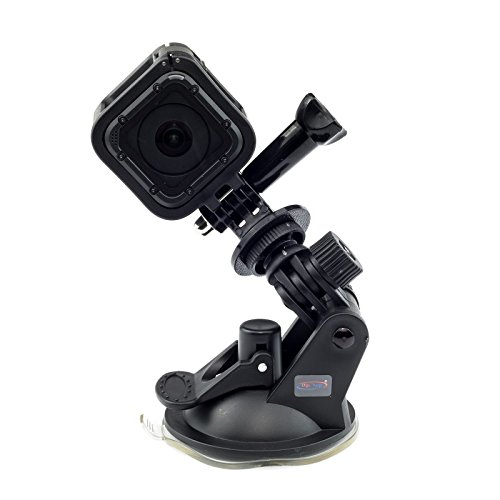 Digicharge® Saugnapf Halterung für GoPro Hero9 Hero8 Hero7 Hero6 4K Session Mini Hero 9 8 7 6 5 4 3+ 3 2 1 Go Pro HD Kamera Halter an Auto KFZ Auto-Halterung Suction Cup