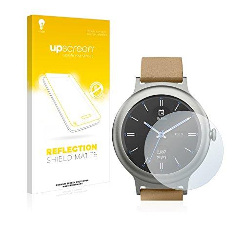 upscreen Entspiegelungs-Schutzfolie kompatibel mit LG Watch Style – Anti-Reflex Bildschirmschutz-Folie Matt