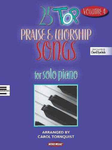 Palabra música 25parte superior elogio y culto canciones para Piano Solo Vol 4