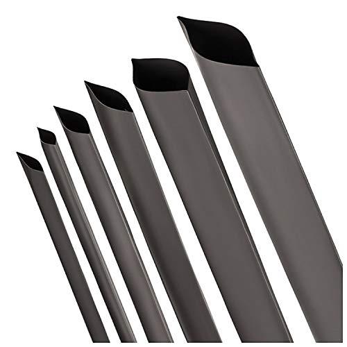 Schrumpfschlauch 2:1 schwarz Auswahl aus 12 Durchmessern und 6 Längen von ISOLATECH (hier: Ø100mm - 1 Meter)