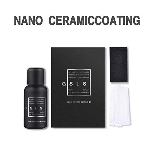 Hocossy 9H Nano Super Ceramic Coating for Cars,High Gloss Anti-Scratch Hydrophobic Paint Sealant Protection,Automotive Liquid Car Coating Polishing Set-30ML (1oz)
