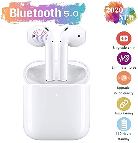 Bluetooth Kopfhörer,In-Ear Kabellose Kopfhörer,kabellose Touch-Kopfhörer,Sport-3D-StereoKopfhörer,mit 24H Ladekästchen und Integriertem Mikrofon Auto-Pairing für Huawei/iPhone/Airpods/Samsung/Android