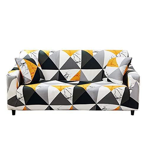 HOTNIU Elastischer Sesselbezug Stretch Sofa-Überwürfe Sofaüberzug Sesselhusse Sofabezug Sofa Abdeckung Hussen für Couch Sessel in Verschiedene Größe und Farbe (4 Sitzer, Pattern JYF)