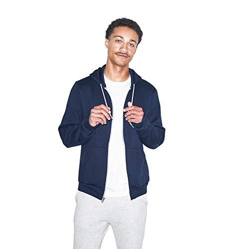 American Apparel Womens Flex Fleece Long Sleeve Zip Hoodie Hooded Sweatshirt Navy Small