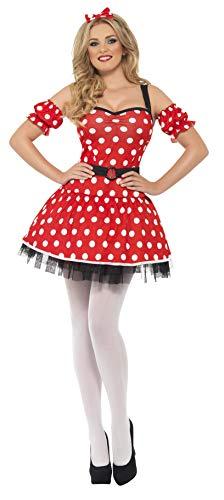 SMIFFYS Costume da topolina sexy, con abito, con polsini e orecchie da topo su cerchiett