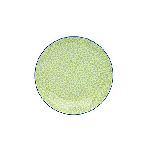 Creatable 21165, Mediterran Grün, Salat-/Suppenteller 21 cm 4er Set, Steinzeug