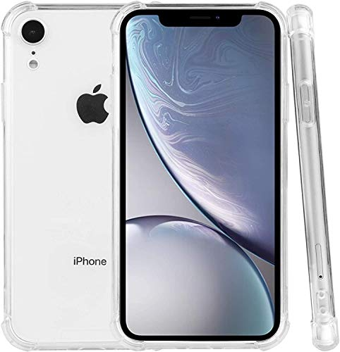 PUBAMALL Funda Compatible con iPhone XR, Clear PC Cubierta Trasera con TPU Parachoques Marco híbrido Transparente Funda Protectora...