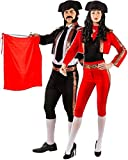 Couples Ladies AND Mens Deluxe Matador Spanish Bull Fighter International Around The World Carnival Fancy Dress Costumes Outfits (UK 14-16 (EU 42/44) - Medium (EU 46/48))