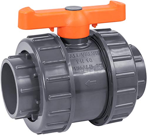IrrigationKing RKBV3O Double Union PVC Ball Valve Slip/Weld, 3""