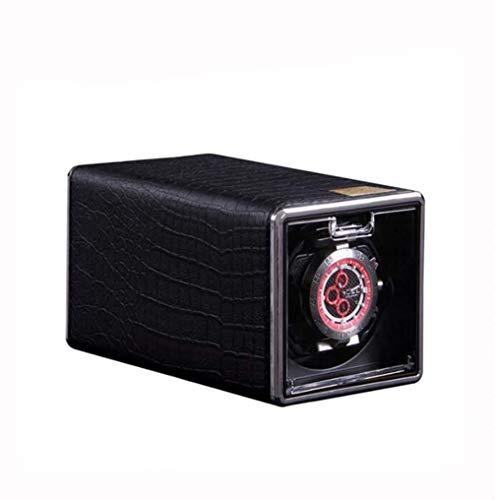 cajas de cartón para embalaje Sola bobina de reloj PU automática de reloj para 1 reloj con reloj de cuero de cocodrilo impermeable Almacenamiento de visualización Embalaje Caja de cartón