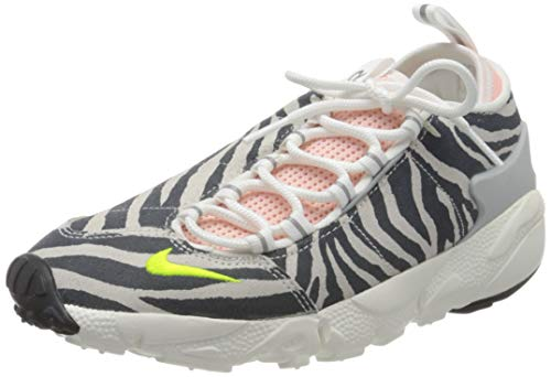 Nike W Air Footscape NXN, Zapatillas para Correr Mujer, Summit White Volt Bleached Coral Black, 42 EU