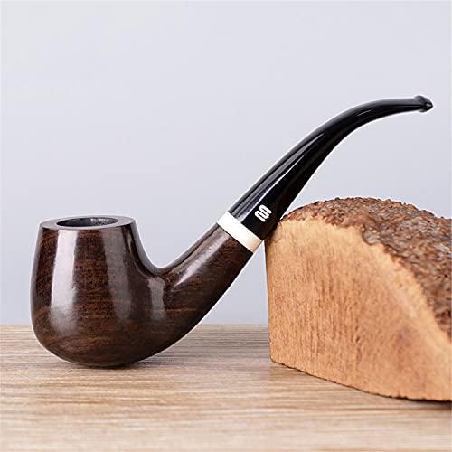 BILXXY Pipa para Fumar de Madera, Pipa para Fumar de Tabaco Retro, Pipa de Tabaco Tallada a Mano a la Antigua para Mujeres, Hombres y Todos los Fumadores