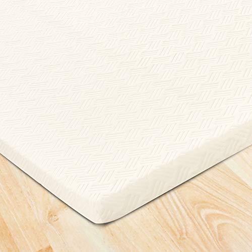 YOUWIN - Tope de espuma viscoelástica, soporte firme y alivia el estrés para cama con somier o cama individual incómoda [sobrecolchón 90 x 200 x 6 cm]