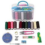 Sevnta™ Double Layer Portable Travel Sewing Kits Box with Color Needle Threads Scissor