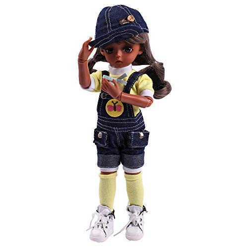UCanaan BJD Doll, 1/6 SD Black Dolls 12 Inch 18 Ball Jointed Doll DIY Toys with Full Set Clothes Shoes Wig Makeup, Best Gift for Girls-Science