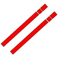 HXKGSMG カーファッションデカールステッカーカバーキズ2Pcsカーボンネットストライプフードステッカーカバー高品質のKK素材デカール。 にとって BMW MINI Cooper R50 R53 R56 R55ブラック/ホワイト/レッド用 (red)