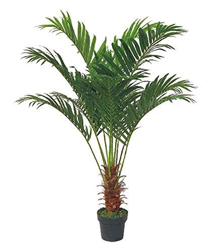 Decovego Künstliche Palme groß Kunstpalme Kunstpflanze Palme künstlich wie echt Plastikpflanze Arekapalme 140 cm hoch Balkon Deko Dekoration