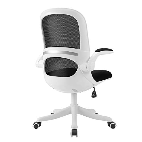 HUAYIN Executive Office Chair, drehbarer Gaming-Armlehnenstuhl mit hoher Rückenlehne | Reading Living Room Chair Höhenverstellung Ergonomischer Computerstuhl,Schwarz