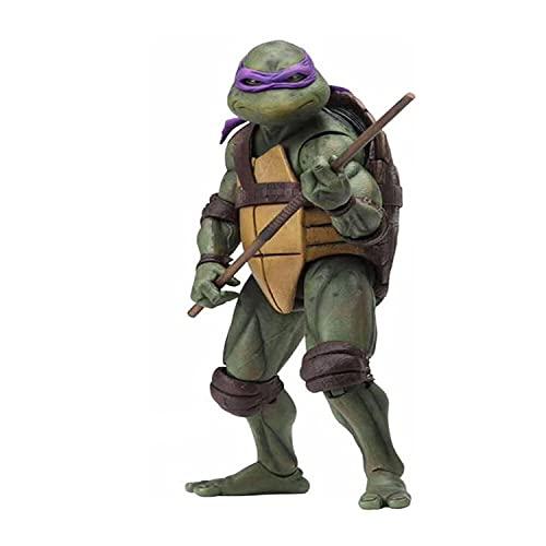 LIGANG Teenage Mutant Ninja Turtles Movable Statue (1990 Movie Version)