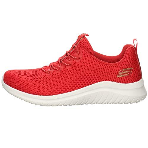 Skechers Ultra Flex 2.0 - Scarpe da ginnastica da donna, Rosso (rosso), 36 EU