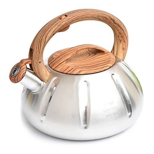 Balanza Digital, tés c Hervidor a Gas Hervidor con silbido para Estufa, Mango de Madera, 3 L