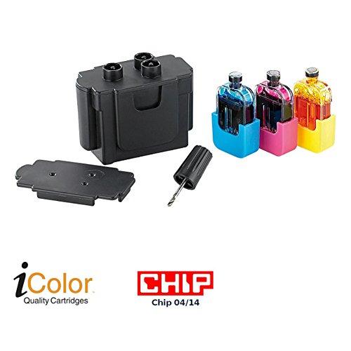 iColor Refill-Farben: Smart-Refill STARTER-Kit für Canon CL-541/541XL (Refill-Set für Tinten-Kartusche)