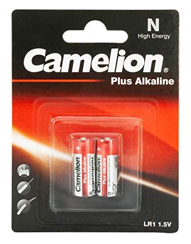 Camelion 11000201 Plus Alkaline Batterie N/LR1/Lady, 2er-Pack, silber