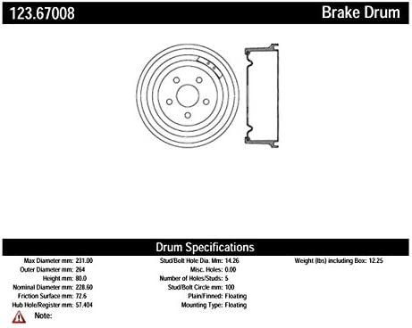 Centric Parts 123.67008 Brake Drum Limited price Limited time cheap sale sale