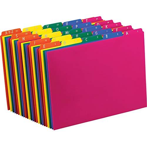 Pendaflex 40142 Top Tab File Guides, Alpha/A-Z 1/5 Tab, Polypropylene, Letter (Set of 25)