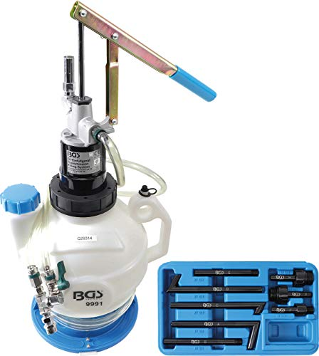 BGS 9991   Getriebeöl-Befüllgerät mit Handpumpe   mit Rücklaufsystem   mit 8 Adaptern   7 l   Öleinfüllgerät