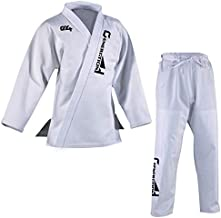 G4 VISION BJJ Gi Mens Kids Brazilian Jiu Jitsu Suit Jujitsu Uniform Adult Youth Blue Black White (White, M2)