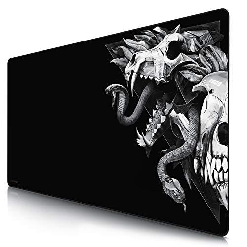CSL - Übergröße Mauspad Gaming Titanwolf 1200x600mm - XXXL Mousepad groß mit Motiv - XXXL Tischunterlage Large Size - verbessert Präzision und Geschwindigkeit - XXL z.B. für Logitech Maus und Tastatur