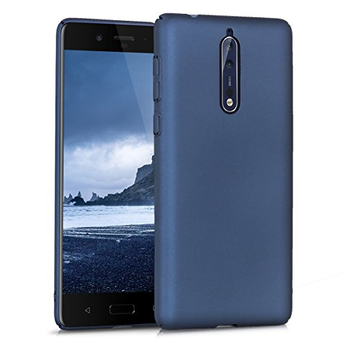 kwmobile Cover compatibile con Nokia 8 - Custodia rigida Hard Case posteriore in plastica - Backcover protettiva