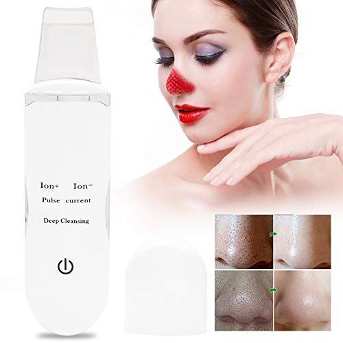 Nannday Depurador ultrasónico de Alta frecuencia para la Piel, Exfoliante Facial Recargable, poro, Limpieza Profunda, exfoliación, Pala, Dispositivo, suero, Instrumento de importación