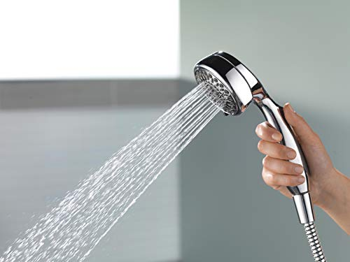 DELTA 7-Spray Touch-Clean Hand Held Shower Head with Hose, Chrome 75700