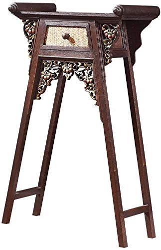 Simple and Creative Decoration Furniture Southeast Asian Console Table Bamboo Weaving Side Table Hall Console Handcarved Sofa Table Simple and Creative Decoration, Y-Z, Brown, 70x35x100cm