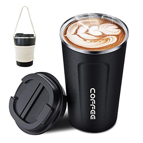 ROCONTRIP Vakuum Kaffee Tasse, Wiederverwendbare Reisebecher