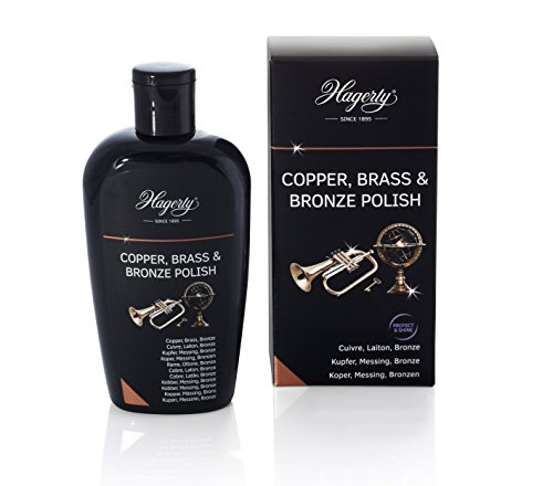 Hagerty Copper Brass & Bronze Polish 250 ml I Effiziente Bronze Messing Kupfer-Politur für erneuerten Glanz I Polierpaste für Vasen Skulpturen Kupfergeschirr Dekorationsartikel Musikinstrumente usw