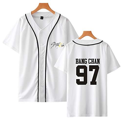 Stray Kids Camiseta KPOP StrayKids Yellow Wood Verano Corta Blusa Changbin Hyunjin Felix Seungmin Jeongin Jisung Minho Woojin BangChan Manga Corta Casual Béisbol Uniforme Tshirt 🔥