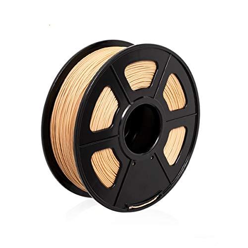 3D Filamento PLA de Color Madera 1.75mm - 1KG/360m Filamento 3D para Impresora 3D / Pluma 3D, Parece Madera, Tolerancia de +/- 0.02mm, Envasado al Vacío